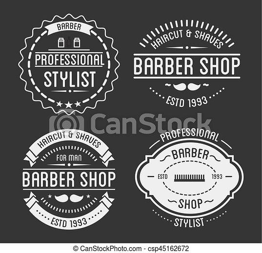 Set Of Vintage Barber Shop Logo And Beauty Spa Salon Badges Vector