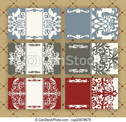Set of vintage cards - csp23678679