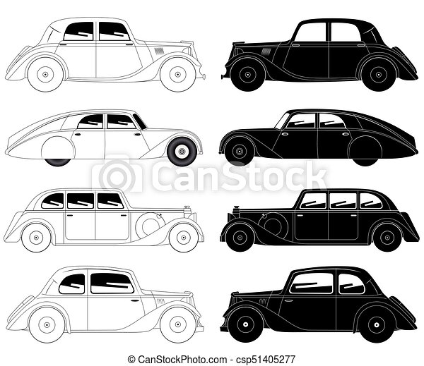Set of vintage cars - csp51405277