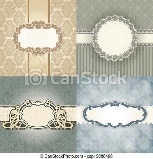 Set of Vintage frame - csp13888498
