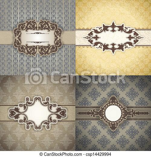 Set of Vintage frame - csp14429994