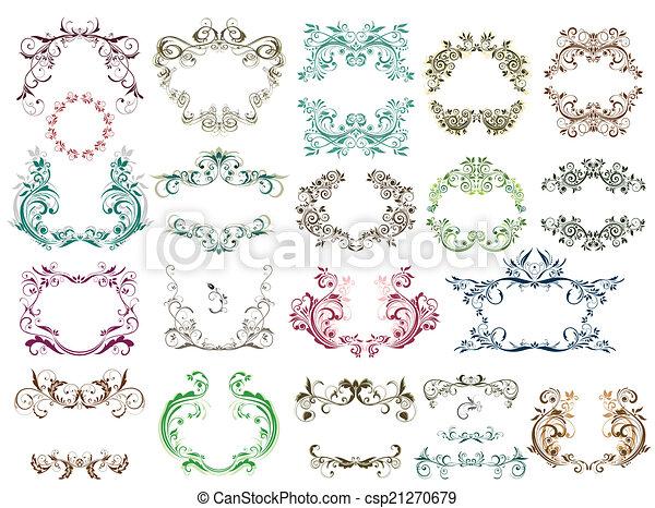 Set of vintage frames for design - csp21270679