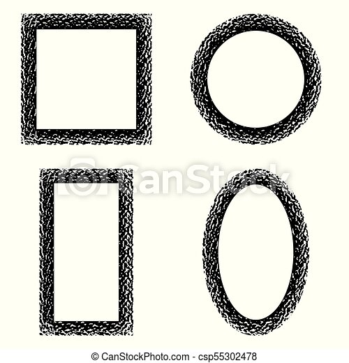 Set Of Vintage Frames For Photos Pictures Vector Retro Frames To