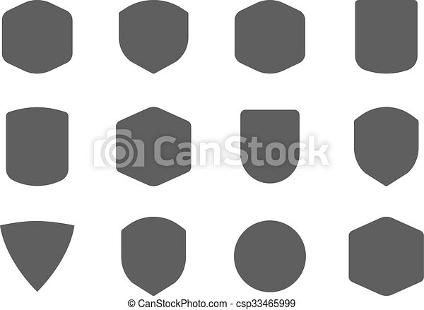 Set of vintage frames, shapes and forms for logo, labels, insignias ...