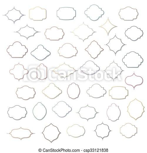 Set of vintage frames, vector - csp33121838