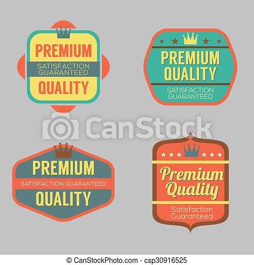 Set of Vintage Retro Badge. - csp30916525