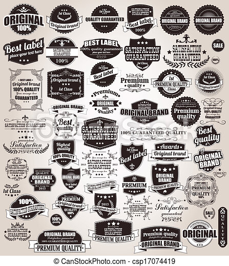 Set of vintage retro labels - csp17074419