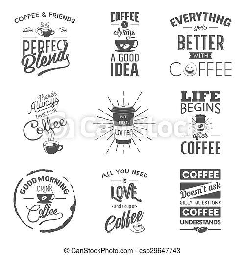 Set of vintage wine typographic quotes - csp29647743