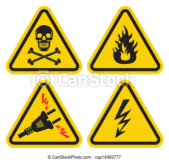 Set of warning sign vectors illustration - Search Clipart, Drawings ...
