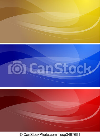 Set of wavy banners (eps 10) - csp3497681