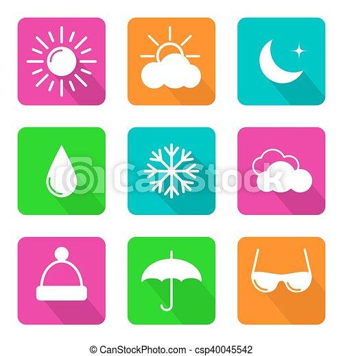 Set of weather icons - csp40045542