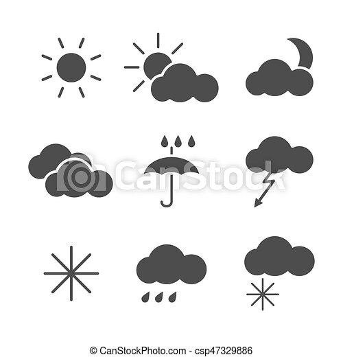 Set of weather icons - csp47329886