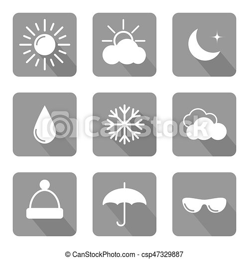 Set of weather icons - csp47329887