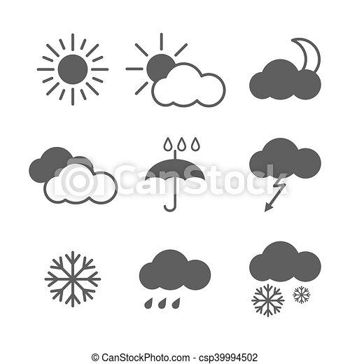 Set of weather icons - csp39994502