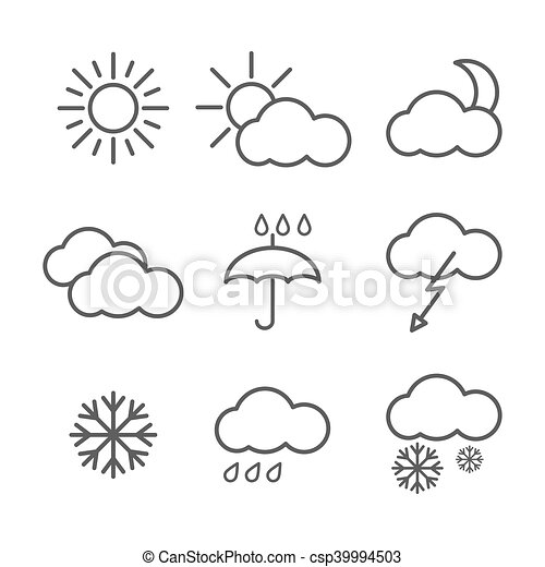 Set of weather icons - csp39994503