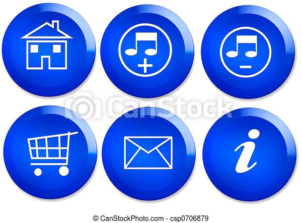 Set of Web buttons - csp0706879