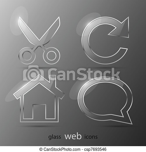 Set of web icons. Vector illustration. Eps 10 - csp7693546