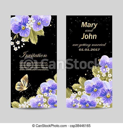Set of wedding invitation cards design. - csp38446165