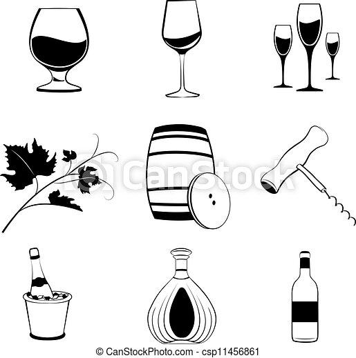 Set of wine items - csp11456861