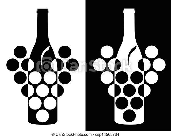 Set of wine symbol csp14565784