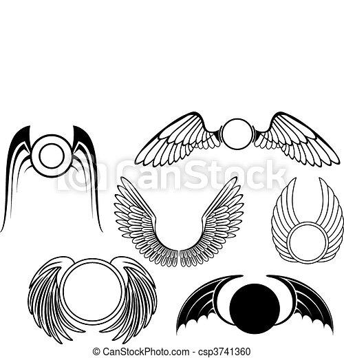 Set of wing symbols - csp3741360