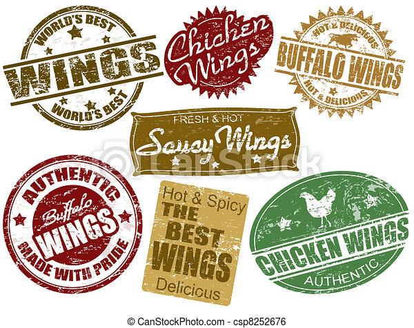 Set of wings stamp - csp8252676