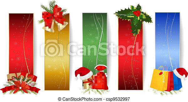 Set of winter christmas banners. - csp9532997