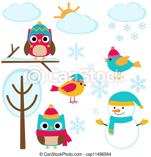 Set of winter elements - csp11496564