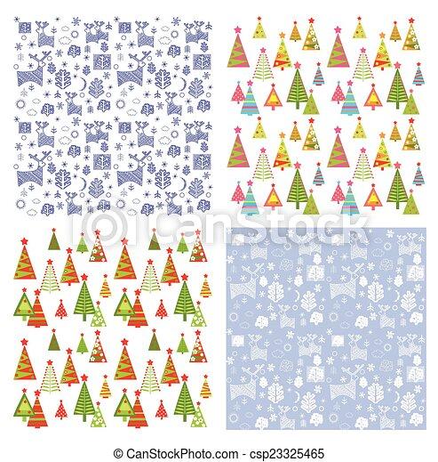 Set of winter wallpaper clip art vector search drawings and set of winter wallpaper vector voltagebd Choice Image