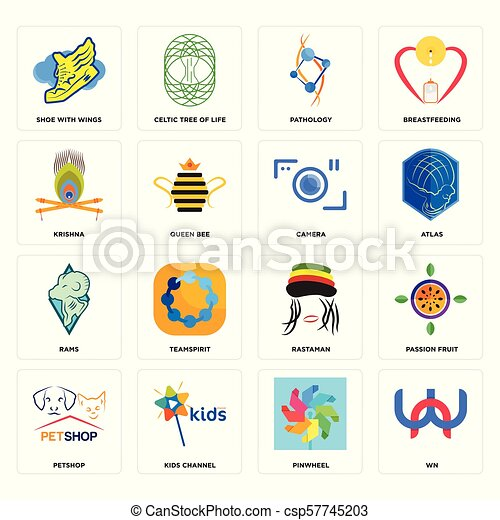 65ef6a490004d Set Of 16 simple editable icons such as wn