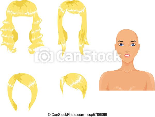 Set of woman haircuts - csp5786099