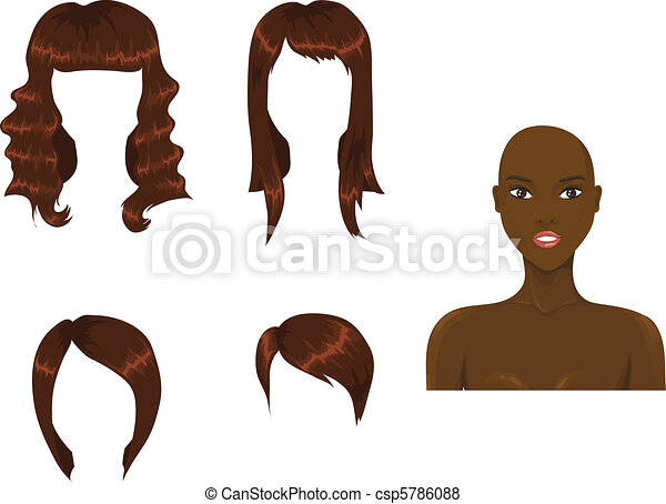 Set of woman haircuts - csp5786088