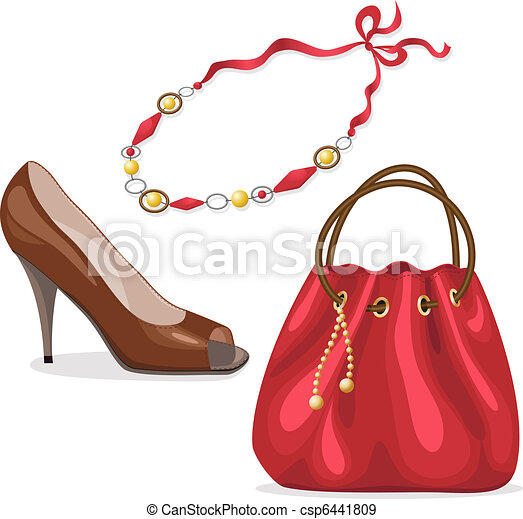 Set of woman's accessories. - csp6441809