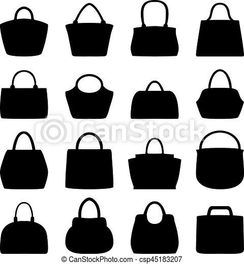 Set of women bags, vector illustration. 2b2f6bebec