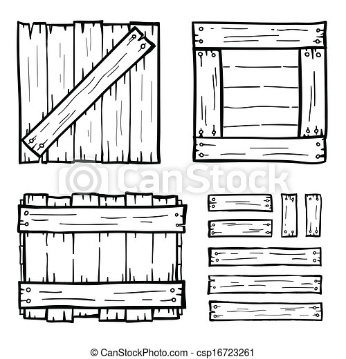 Set Of Wooden Box Doodles Vector  sc 1 st  Can Stock Photo & Set of wooden box doodles clip art vector - Search Drawings and ... Aboutintivar.Com