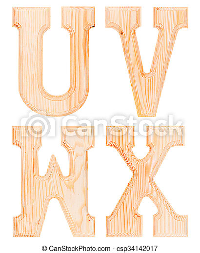 Set of wooden letters of the alphabet - csp34142017