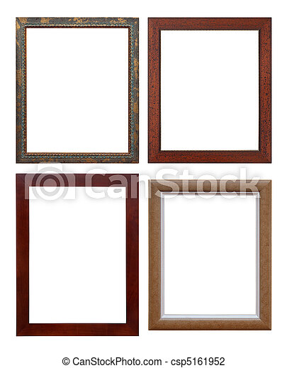 set of wooden picture frame, isolated - csp5161952
