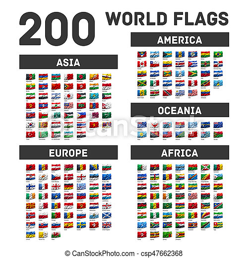 Set of world flags - csp47662368