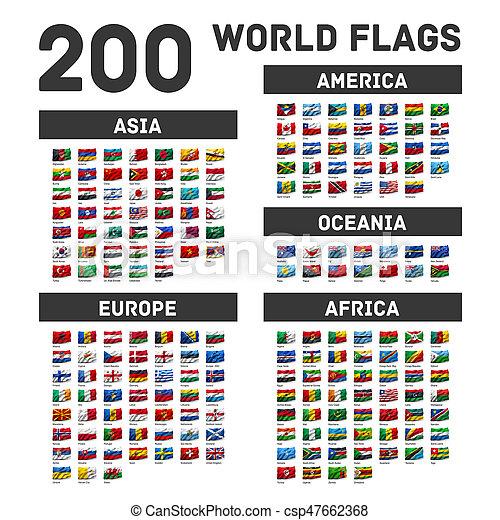 Set of world flags - csp47662368