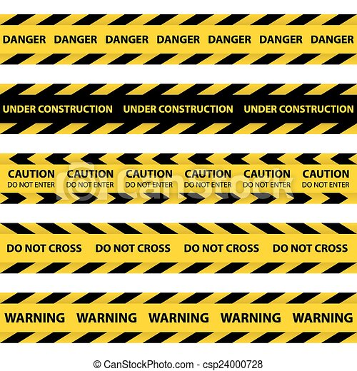 Set of yellow Barrier Tapes - csp24000728