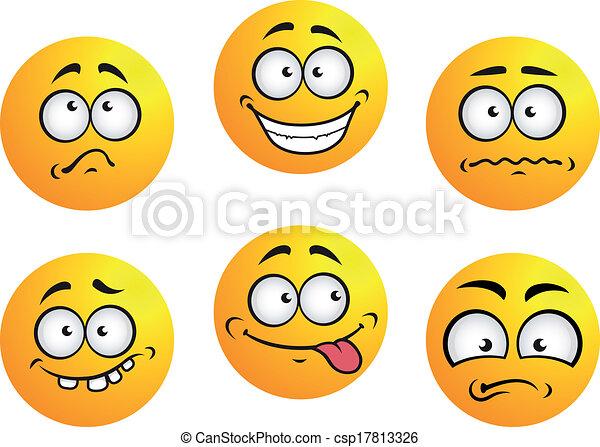 Set of yellow emoticons - csp17813326