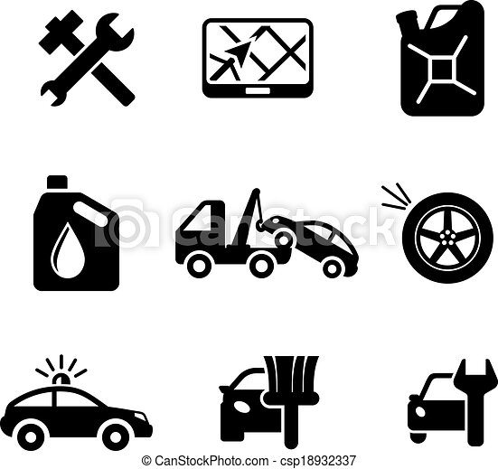 Set ofcar service and automobile icons - csp18932337