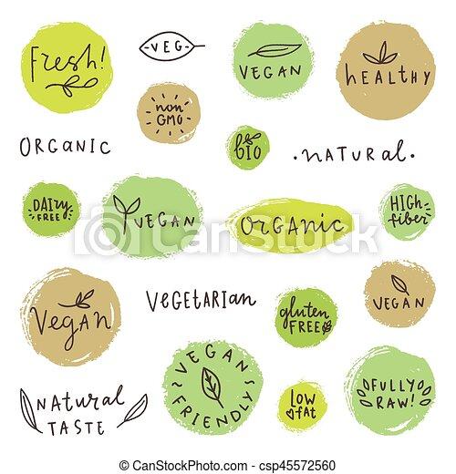 Set og vegan signs. - csp45572560