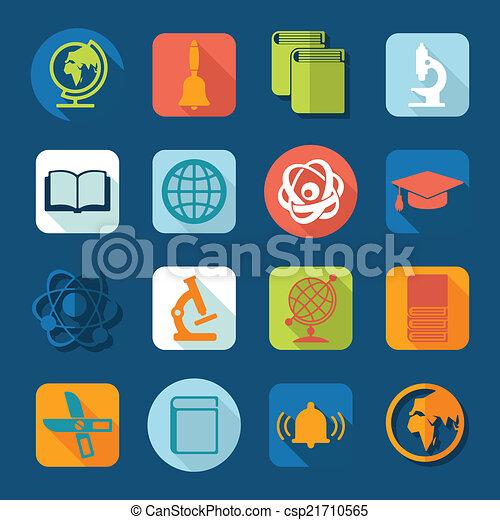 set, opleiding, iconen - csp21710565
