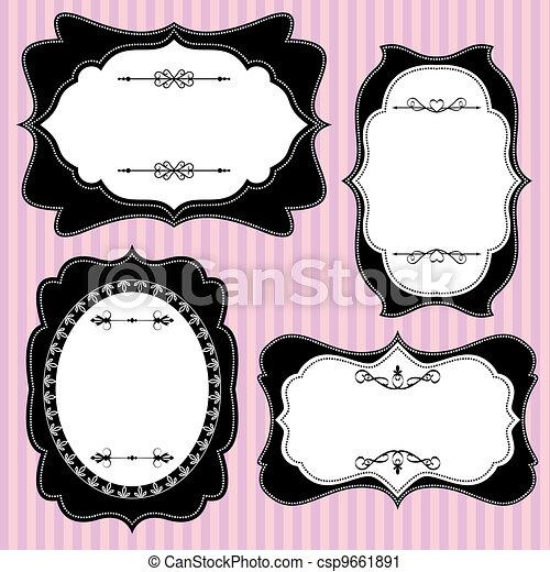 set ornate frame - csp9661891