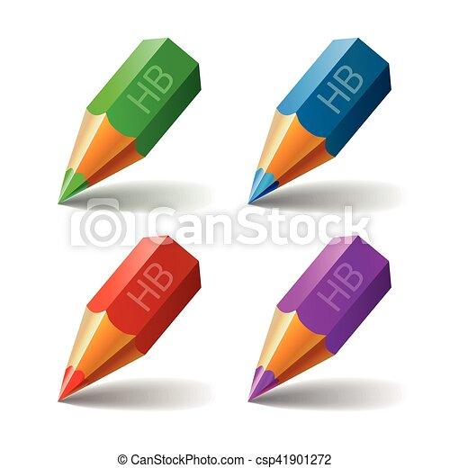 Set Pencil Vector Icon - csp41901272