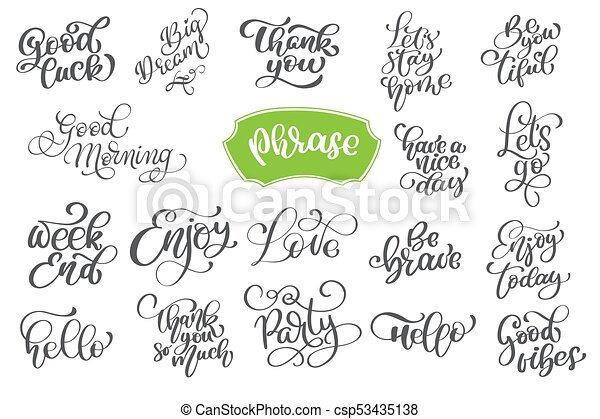 Set phrase of vector inspirational and motivational lettering for set phrase of vector inspirational and motivational lettering for greeting cards decoration prints and posters hand drawn typography design elements m4hsunfo