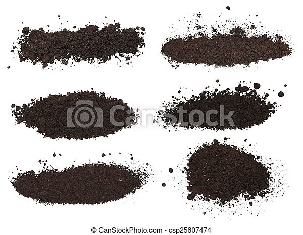 set pile dirt isolated on white - csp25807474