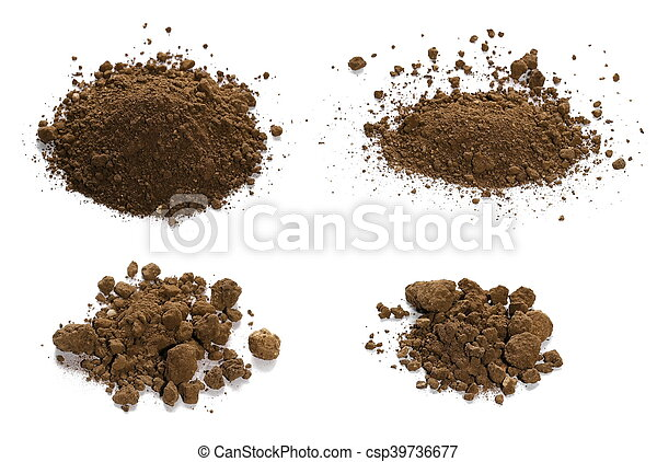 set pile dirt isolated on white - csp39736677