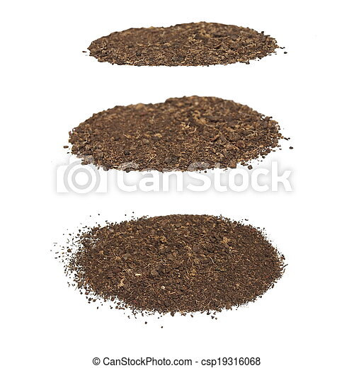 set pile dirt isolated on white  - csp19316068